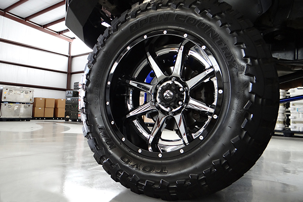 fuel rampage wheels black f150 lifestyle detail