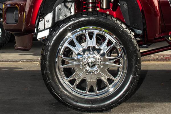 fuel throttle dually wheels chrome detail