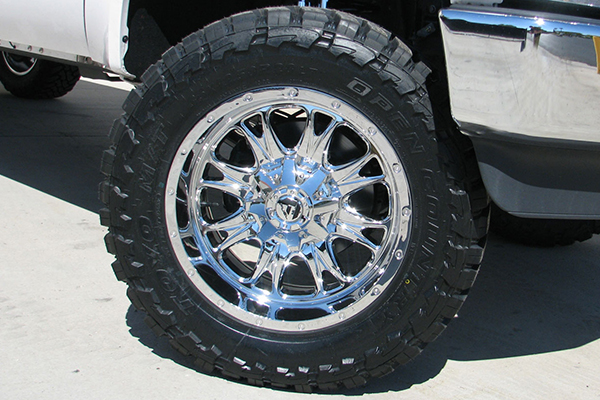 fuel throttle wheels f250 detail