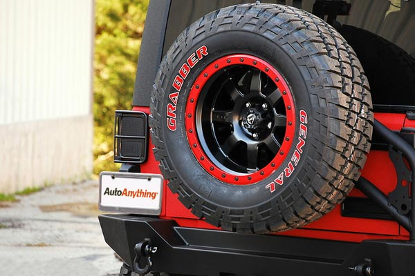 fuel trophy wheels wrangler rear tire mount