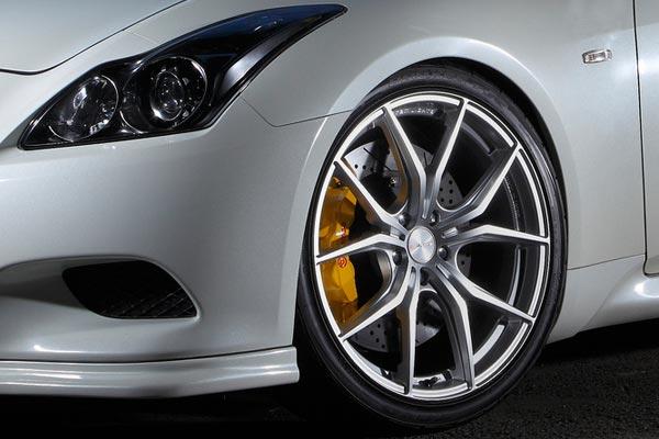 gram lights 57fxx wheels infinti g37 detail