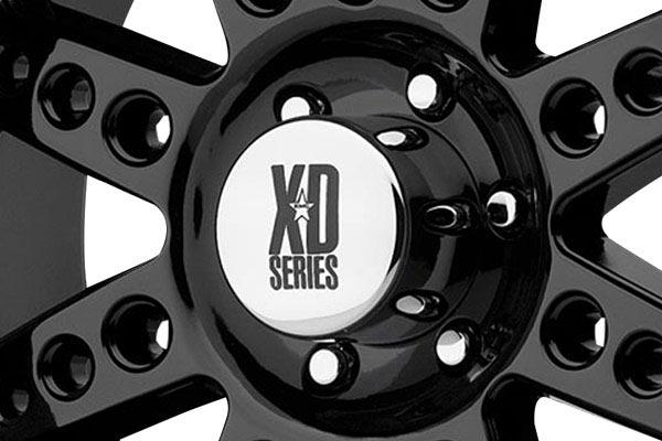 kmc xd series XD766 diesel gloss black center cap