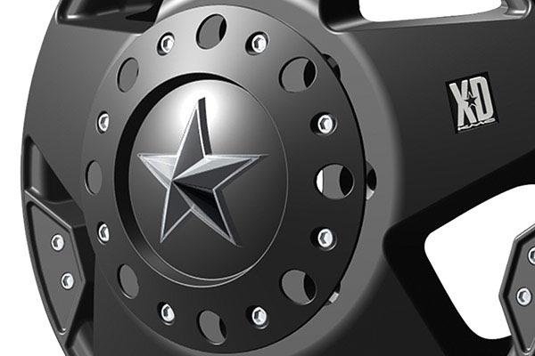 kmc xd series XD775 rockstar black dually center cap