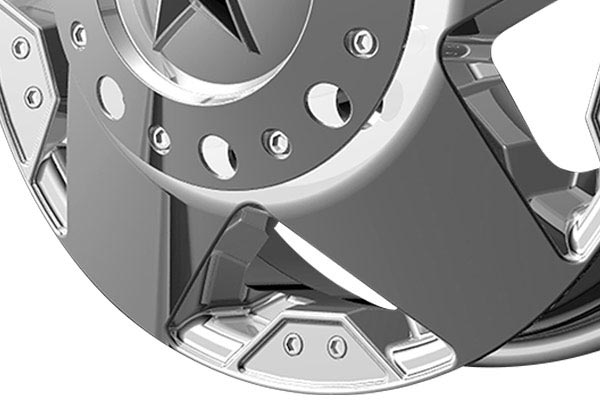kmc xd series XD775 rockstar chrome dually spoke