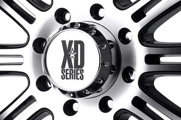 kmc xd series XD795 hoss gloss black machined center cap