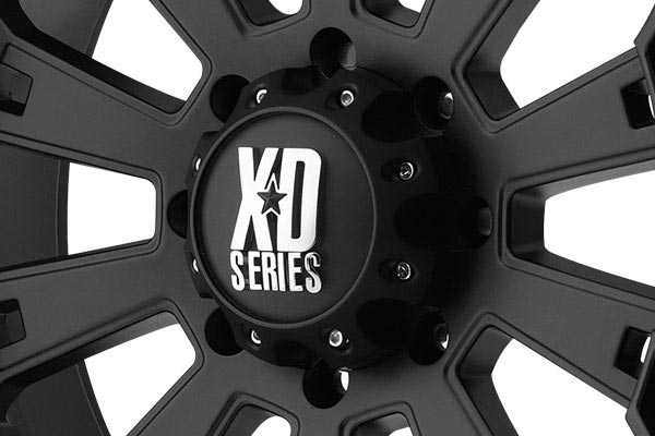 kmc xd series XD800 misfit matte black center cap