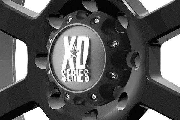 kmc xd series XD807 strike matte black center cap