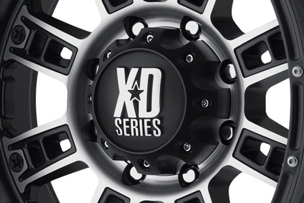 kmc xd series XD809 matte black machined center cap