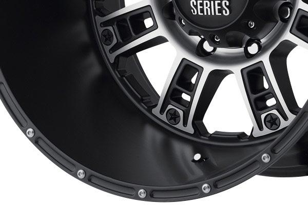 kmc xd series XD809 matte black machined spoke