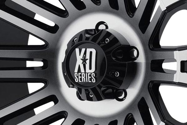 kmc xd series XD810 glossblack machined center cap