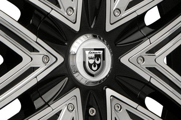 lexani advocate black machined wheels center cap