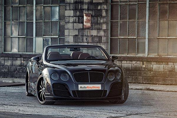 lexani lss10 black machined bentley continental gtc front