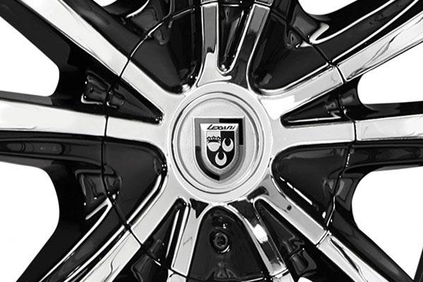 lexani lust black machined wheels center cap