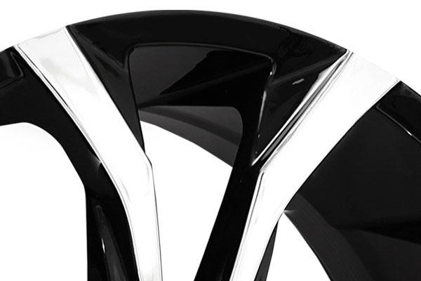 lexani lust black machined wheels lip