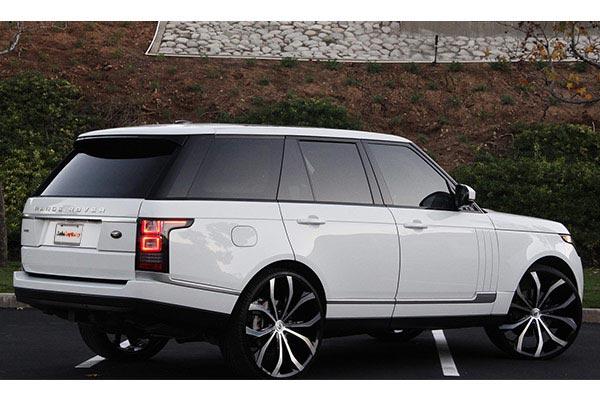 lexani lust black machined wheels range rover rear