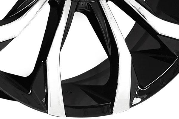 lexani lust black machined wheels spoke