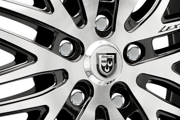 lexani lx10 black machined wheels center cap
