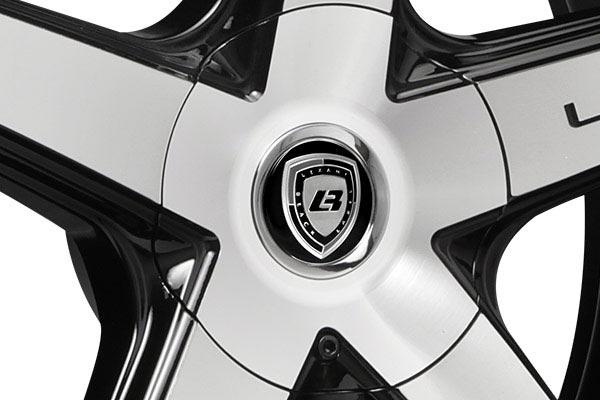 lexani r four black machined wheels center cap