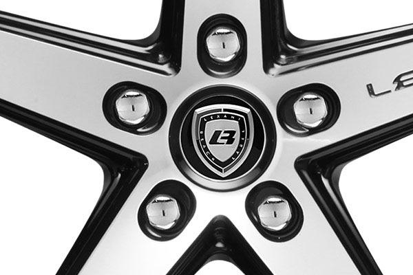 lexani r four black machined wheels center cap lugs