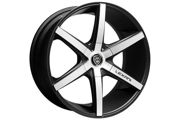 lexani r six flat black machined