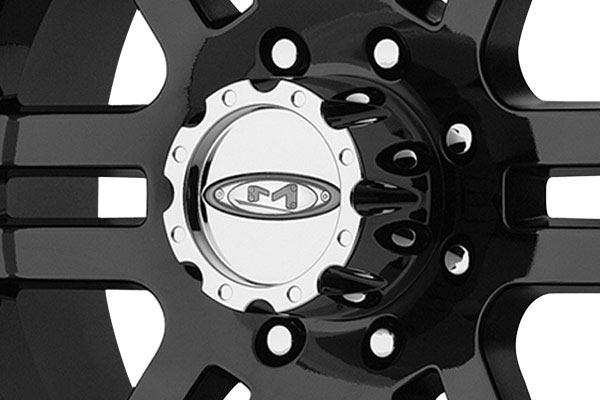 moto metal mo951 gloss black machined wheels center cap