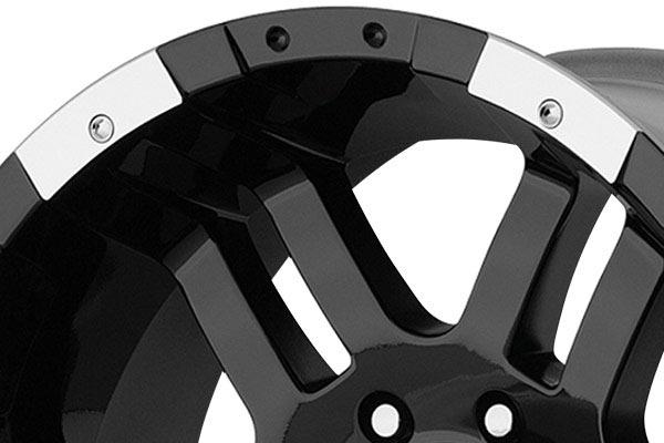 moto metal mo951 gloss black machined wheels lip