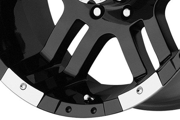 moto metal mo951 gloss black machined wheels spoke