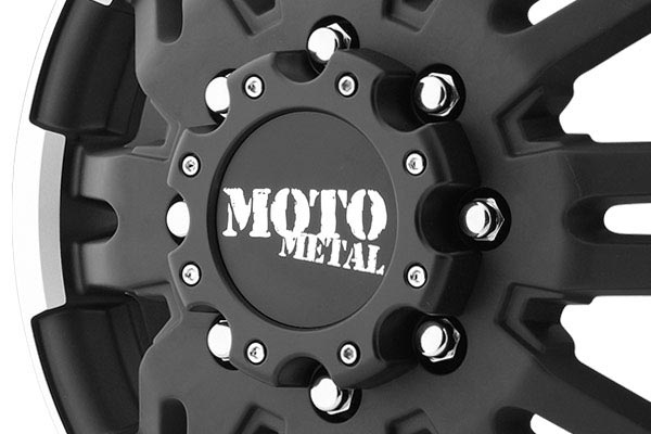 moto metal mo963 dually matte black machined wheels center cap