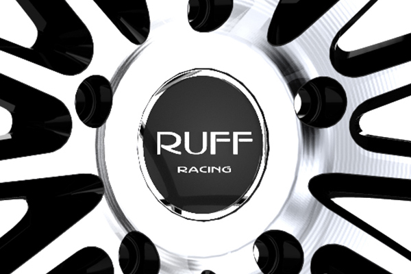 ruff racing r981 wheels center cap