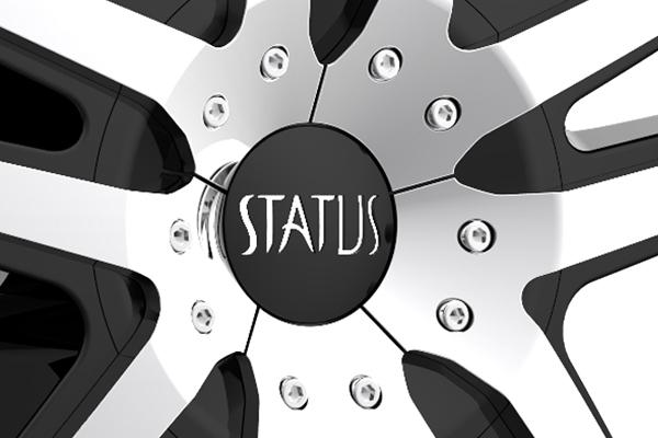 status s820 fang wheels center cap