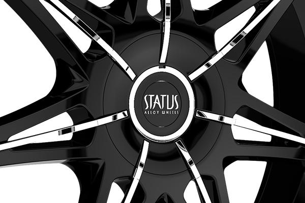 status s828 crown wheels center cap