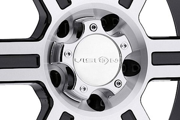 vision 372 raptor wheels center cap