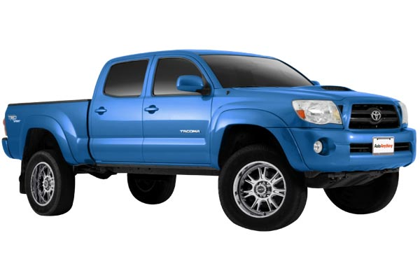 vision 399 fury wheels toyota tacoma installed