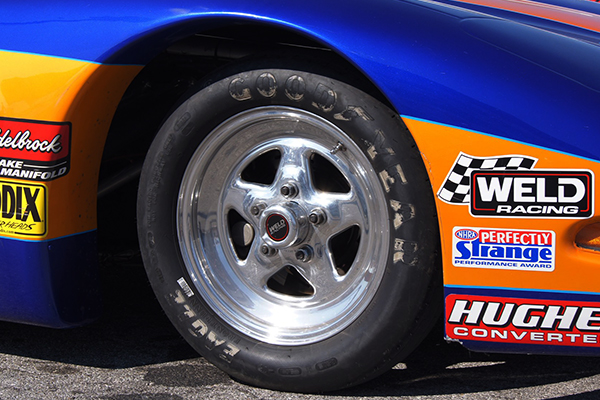 weld prostar wheels drag car front