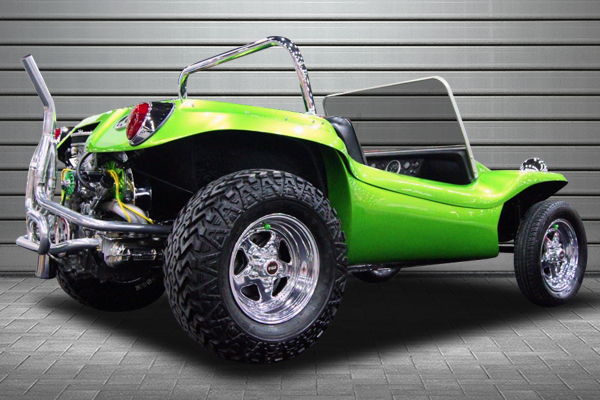 weld prostar wheels dune buggy installed