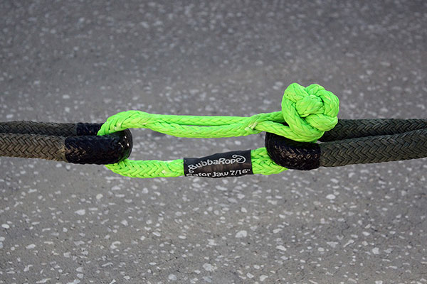 bubba rope gator jaw synthetic shackle lifestyle
