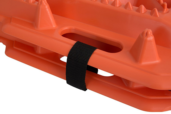 escaper buddy traction mats storage strap close up