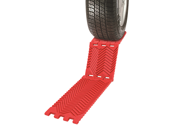 foldable traction mats in use lifestyle