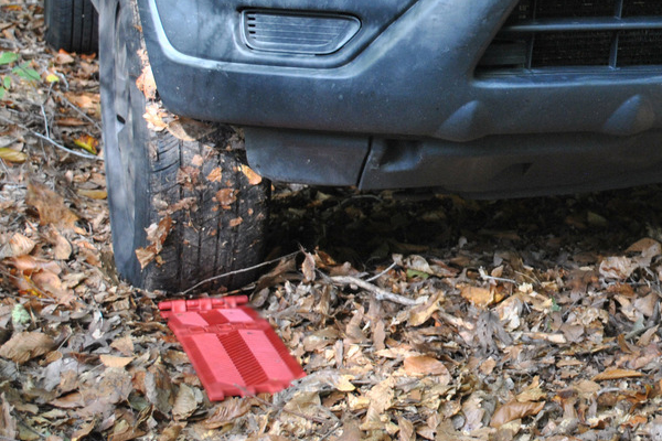 foldable traction mats off road lifestyle detail