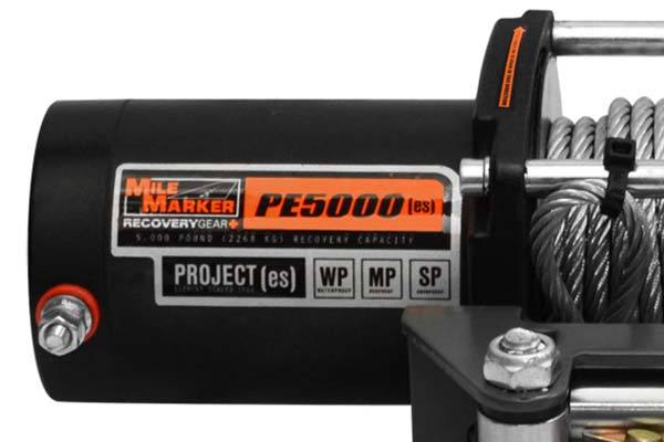 mile marker pe5000 es waterproof electric winch detail 2