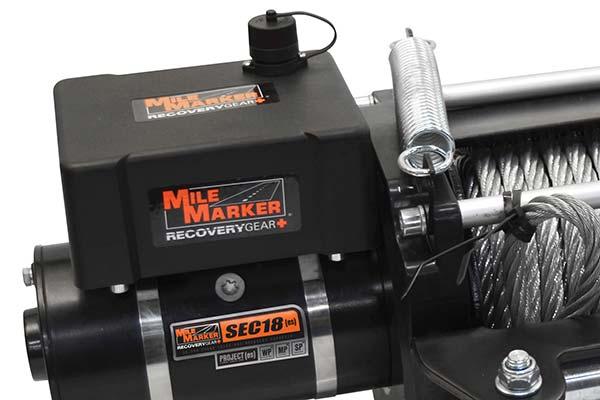 mile marker sec18 es waterproof electric winch detail