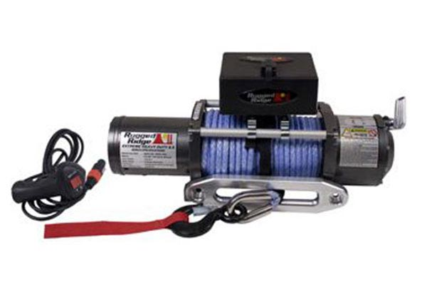 Awesome ... Rugged Ridge 8500lb Winch Roller Mount