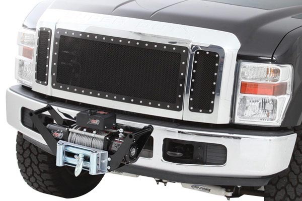 smittybilt winch cradle mount on vehicle