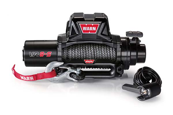 warn vr8 winch synthetic rope