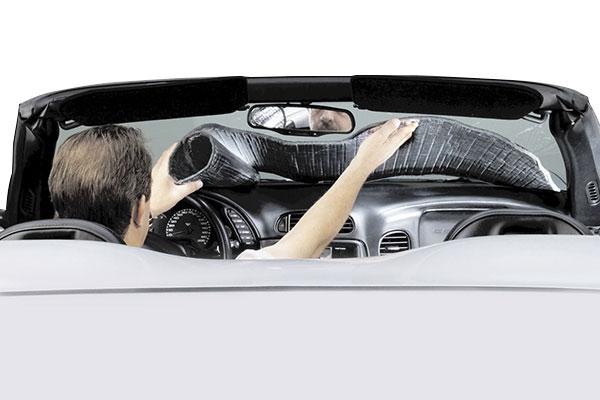 covercraft flex shade windshield sunscreen roll up