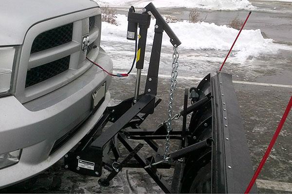 snowbear proshovel snow plow attached
