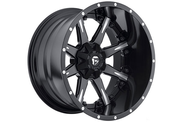 fuel nutz wheels black milled accents sample