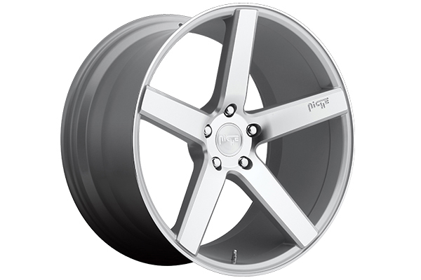 niche milan wheels silver with machined face sample