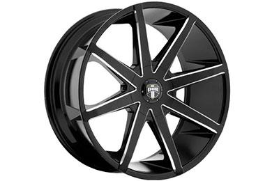 dub push wheels black milled sample