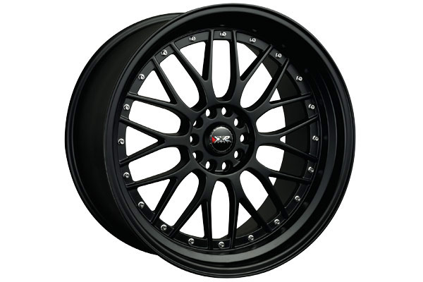 xxr 521 wheels flat black with chrome rivets sample